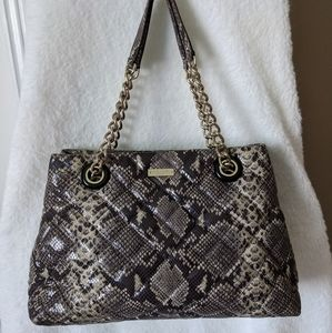 Kate Spade Quilted Maryann Gold Coast Snake Bag
